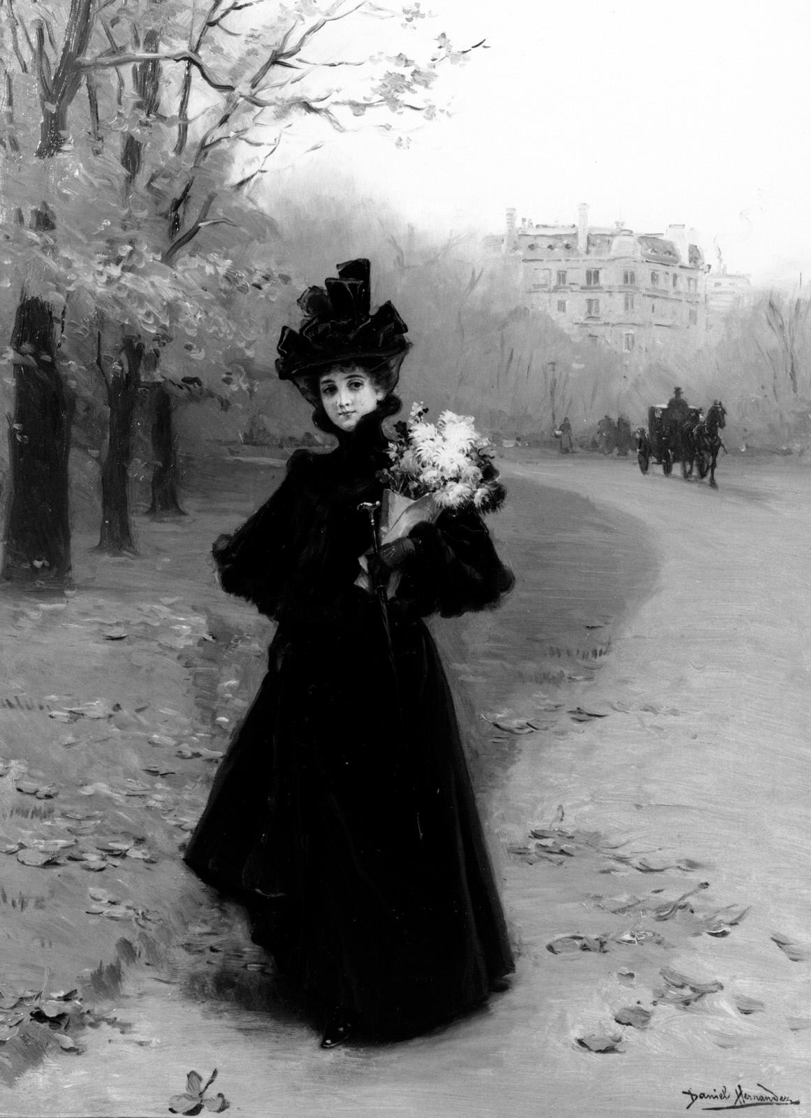 Clark Art  Woman in the Bois de Boulogne ~ Institut Bois Robert