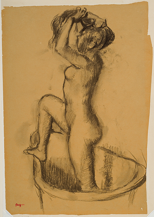 Woman Standing in a Bathtub