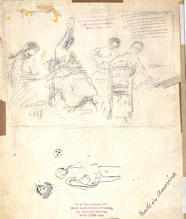 Sketches: Four Seated Women; Bow in Ruff