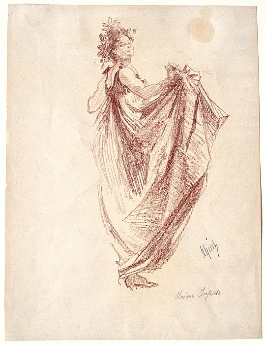 Léonie Laporte as a Bacchante