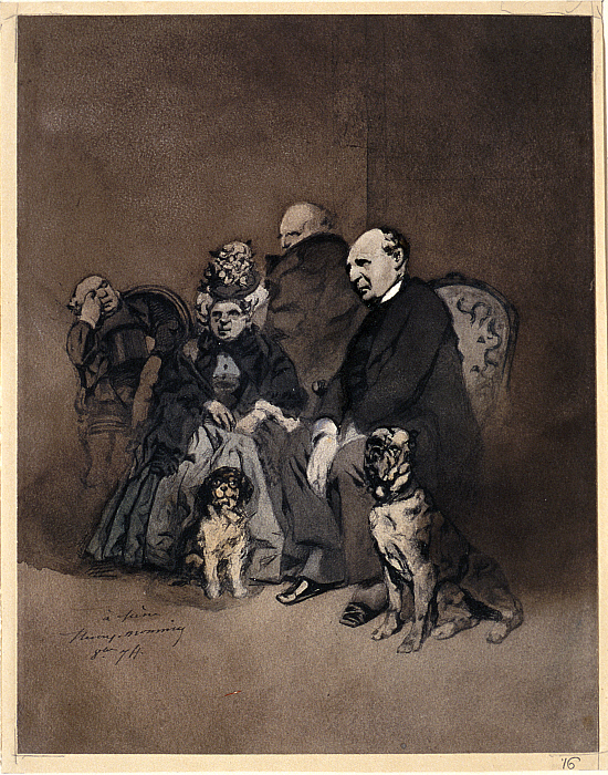 Group of Three Men and a Woman