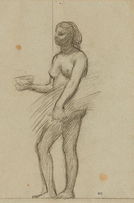 Woman with a Bowl and a Sheaf of Grain Slider Image 1