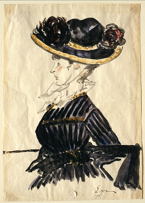 Woman in Large Hat