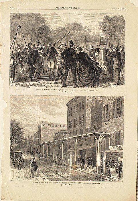 Scene In Printing-House Square, New York City
