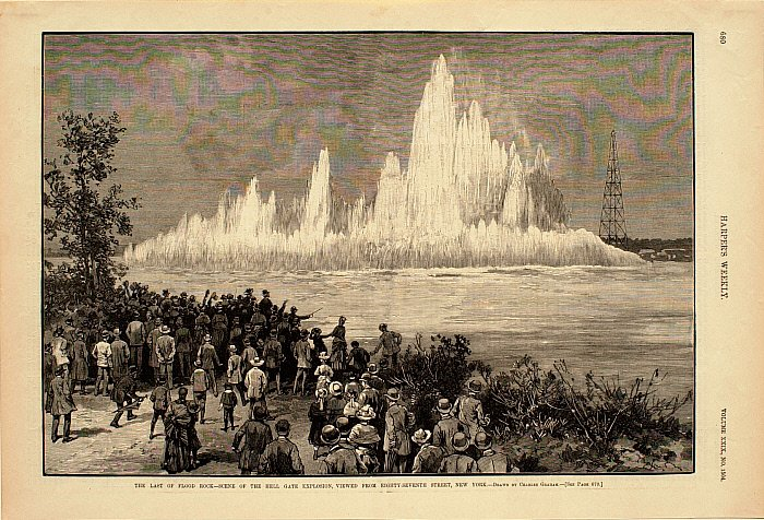 The Last of Flood Rock—Scene of the Hell Gate Explosion, Viewed from 87th Street, NY