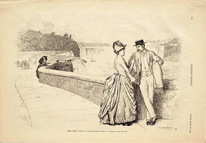 Their Bridal Tour—At Niagara Falls