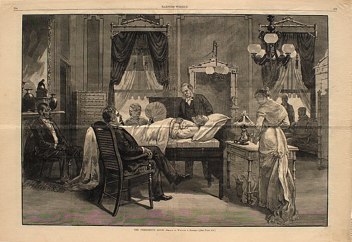 The President's Room [Pres. Garfield on his death bed]