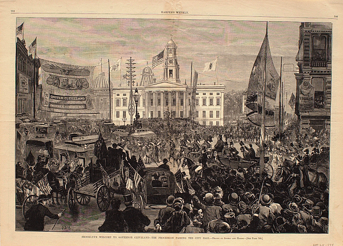 Brooklyn's Welcome to Governor Cleveland—The Procession Passing City Hall