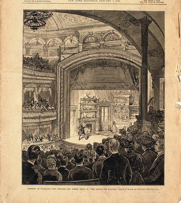Interior of Wallack's New Theatre—The Screen Scene in