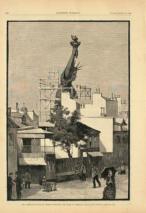 The Bartholdi Statue of Liberty—Beginning the Work of Removal