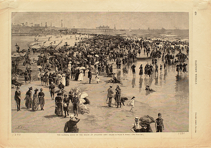 The Bathing Hour on the Beach at Atlantic City