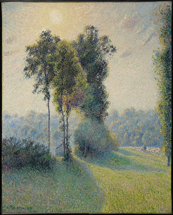 Landscape at Saint-Charles, near Gisors, Sunset