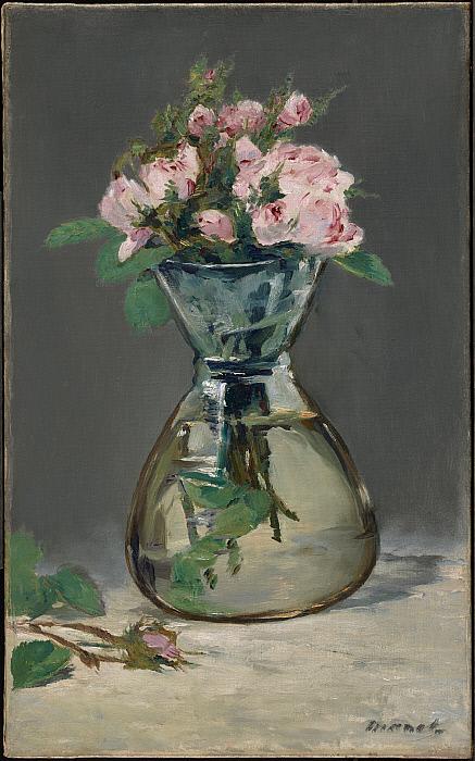 Moss Roses in a Vase Slider Image 1