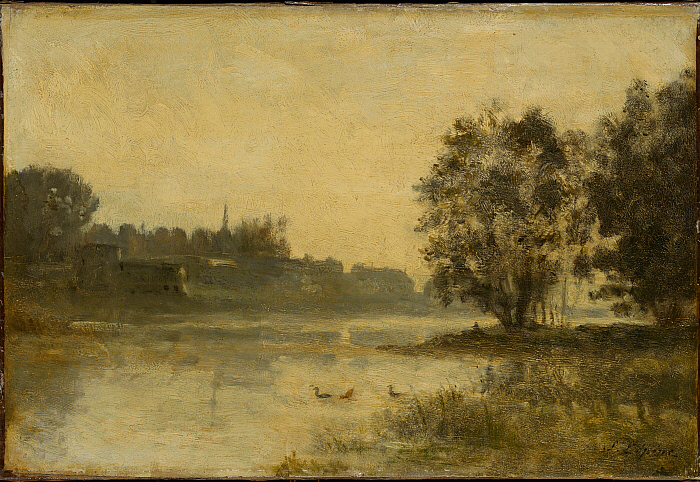 River Scene with Ducks
