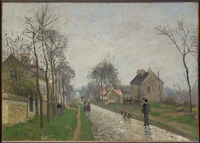 Route de Versailles, Louveciennes, Rain Effect
