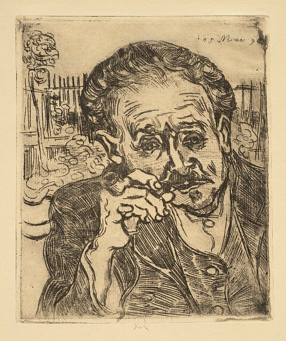 Man Smoking a Pipe: Portrait of Dr. Gachet