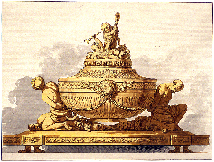 Design for an Epergne with Figures Representing Russia Triumphing over the Turks