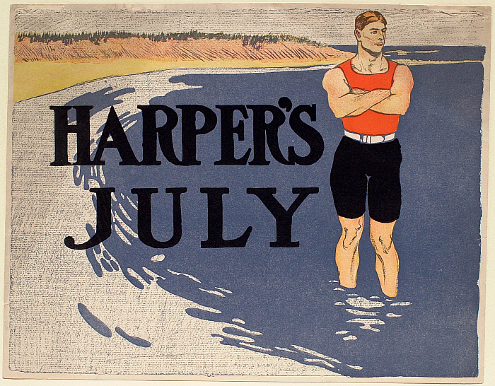 Man on a Beach, July Harper's