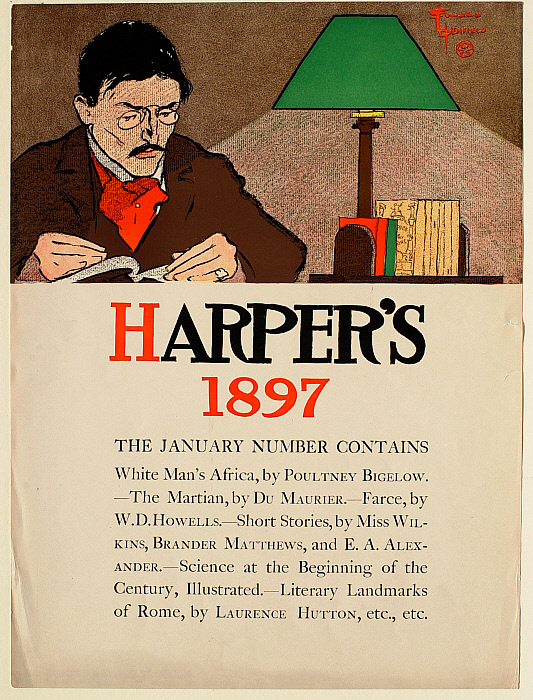 Man Reading, January 1897 Harper's
