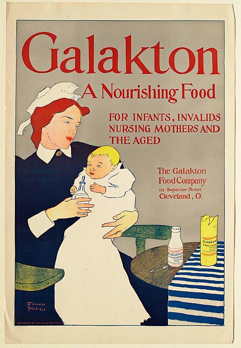 Galakton Advertisement, Nurse Feeding a Baby