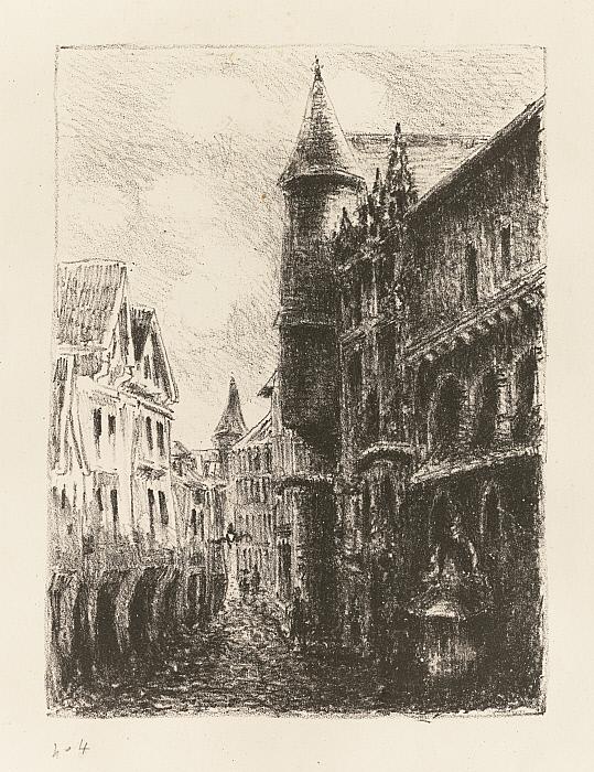Rue Saint-Romain, Rouen, 1st plate