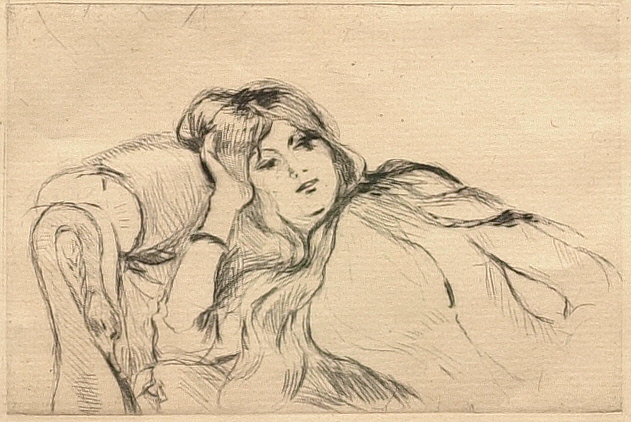 Young Woman Reclining on a Chaise Longue