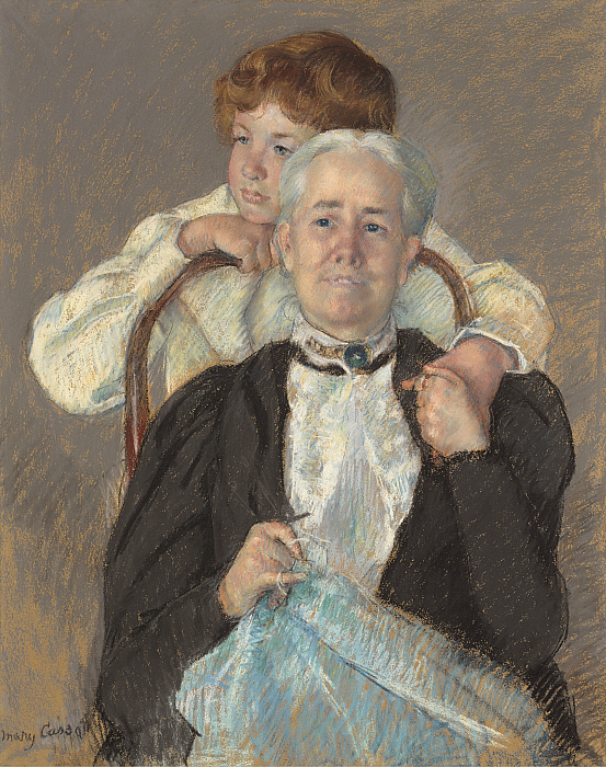 Portrait of Mrs. Cyrus J. Lawrence with her Grandson R. Lawrence Oakley