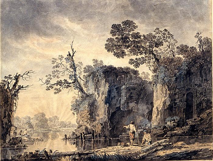 An Idyllic River Landscape