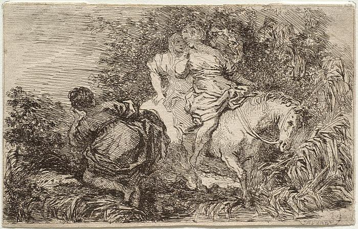 Flight of Clelia, or, Two Women on Horseback