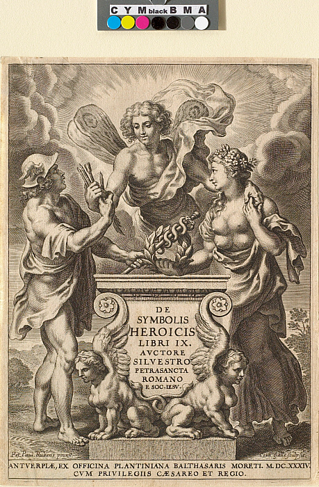 Frontispiece for Silvester Petra-Sancta, Nine Books about Heroic Emblems, Antwerp