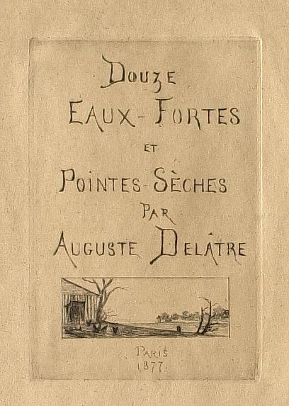 Portfolio: Douze Eaux-Fortes et Pointes Seches: Cover, small farm scene