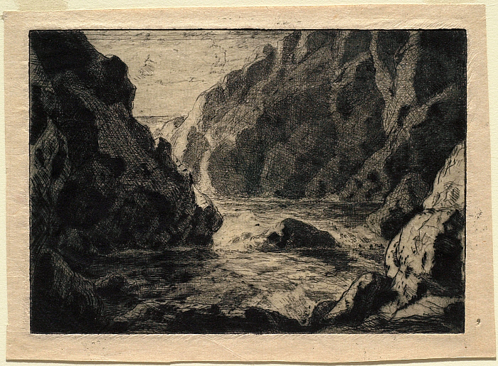 A Cove with Rocky Cliffs