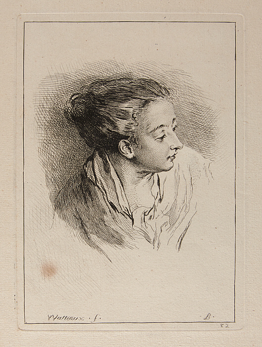Bust of Woman with Hair Pulled Back