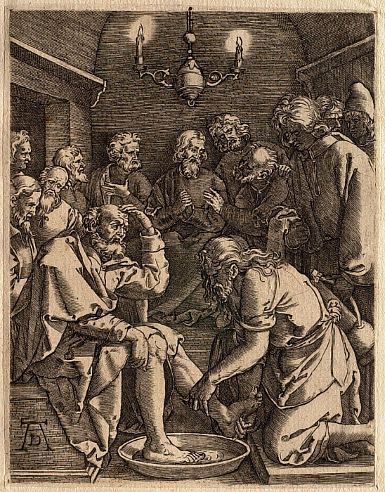 The Small Passion: Christ Washing Peter's Feet