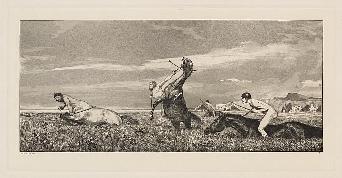 Intermezzi, Opus IV, Bl. 3: Verfolgter Centaur (Centaur Pursued)