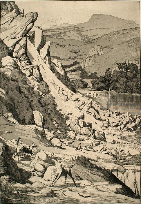 Intermezzi, Opus IV, Bl. 6: Bergsturz (Landslide)