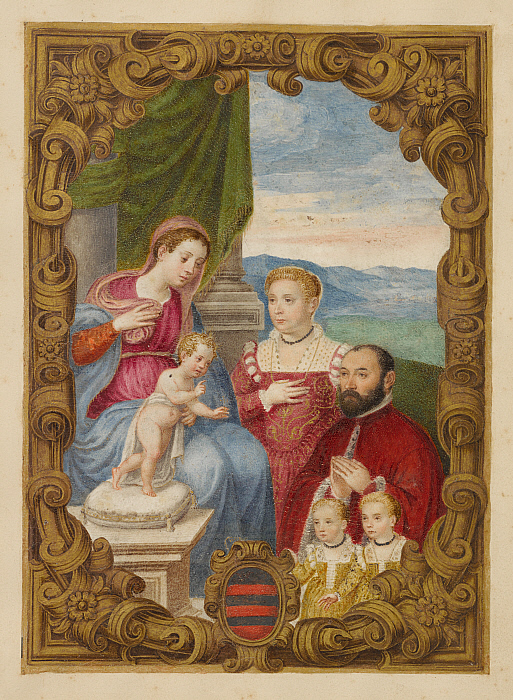 Ducale Showing a Man, His Wife, and Two Daughters