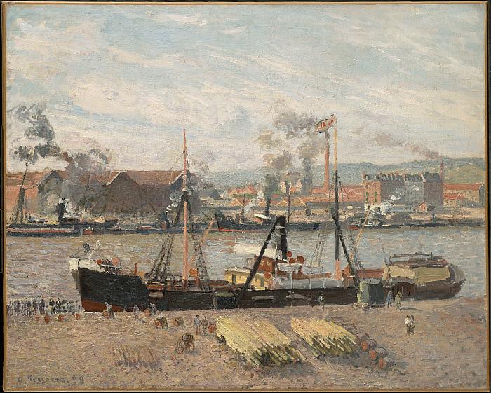 Port of Rouen, Unloading Wood