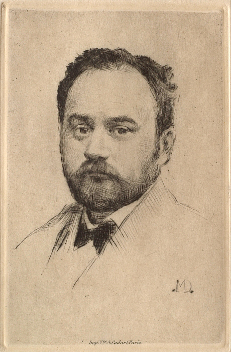 Emile Zola, front view