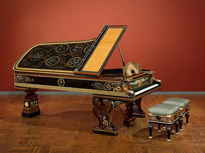 Model D Pianoforte and Stools