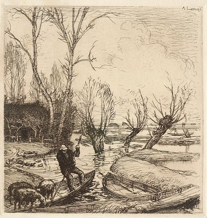 Un marais inondé: le berger