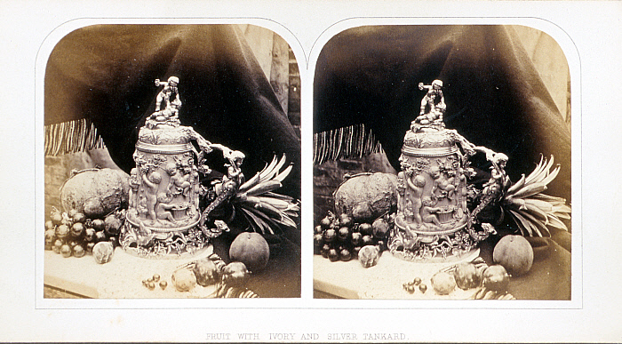 Fruit with Ivory and Silver Tankard