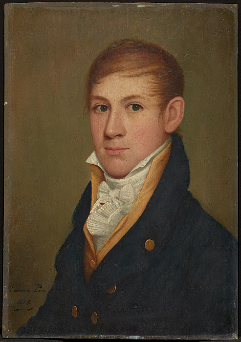 A Gentleman (one of pair of portraits)