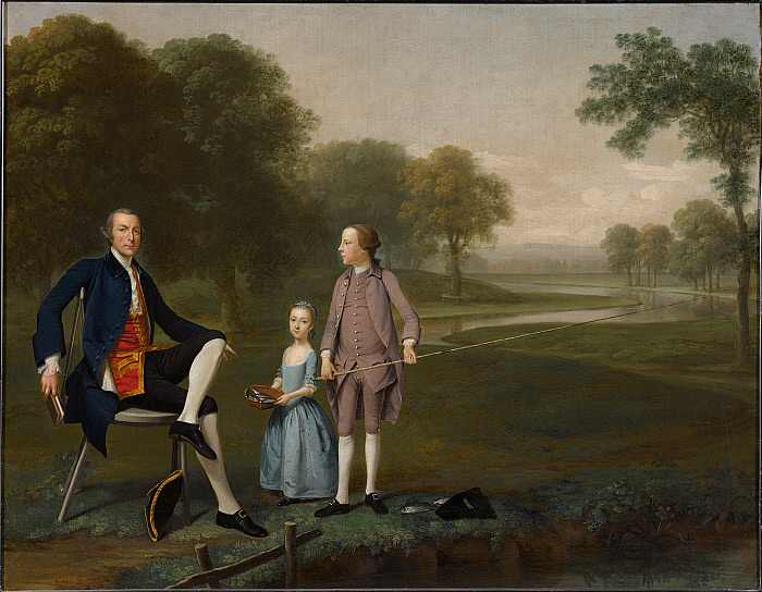 Richard Moreton, Esq. of Tackley with His Nephew and Niece John and Susanna Weyland