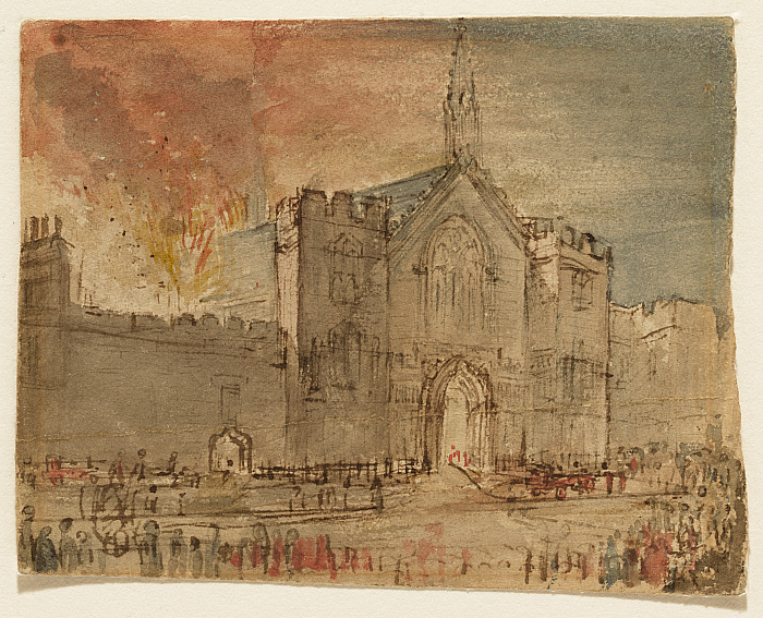 The Houses of Parliament on Fire