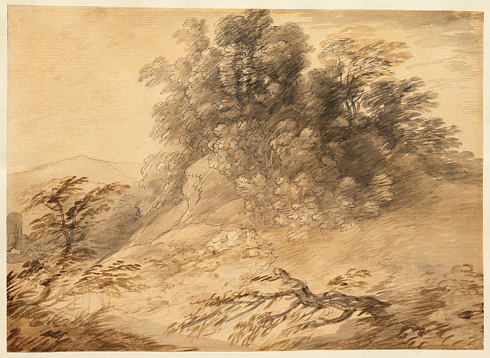 Landscape with a Clump of Trees on a Hillock