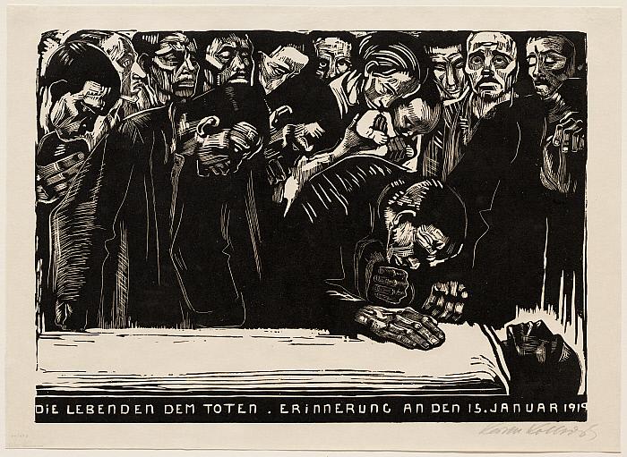 Memorial sheet for Karl Liebknecht