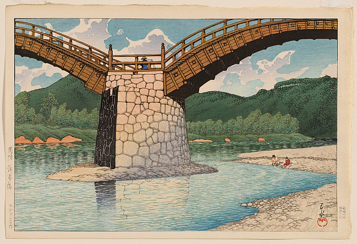The Kintai Bridge in Suō Province