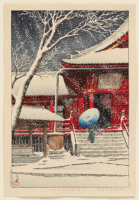 Snow at Kiyomizu Hall, Ueno