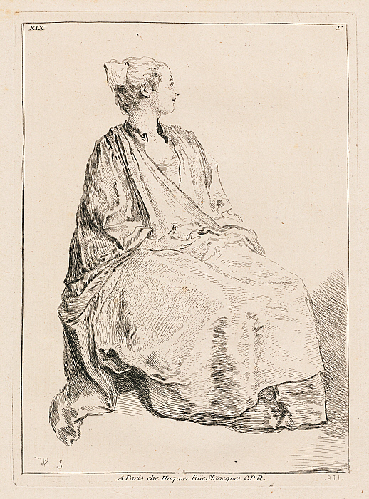 Seated Woman Facing Right